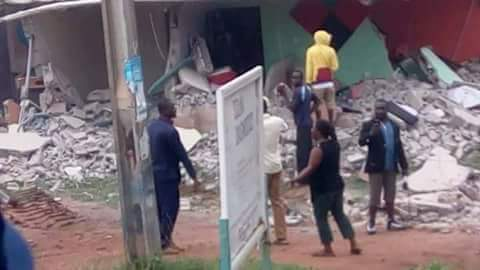 Radio Station Allegedly Demolished By Lafia Govt For Announcing That Civil Servants Want To Go On Strike(Photos)