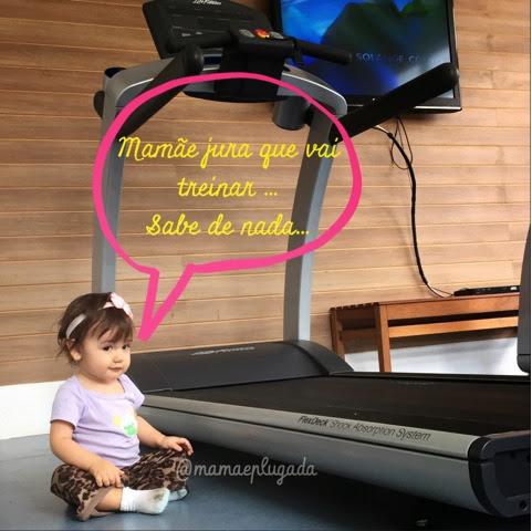 tentando treinar com criança