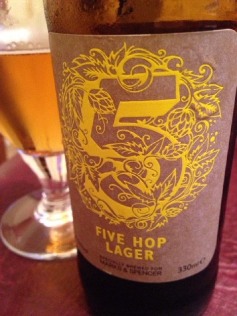 Five Hop Lager by Hogs Back Brewery
