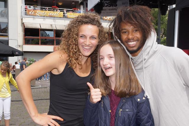 met Morgane en Malik op de foto