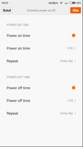 setting jadwal mematikan dan menghidupkan smartphone
