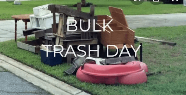 Declutter with bulk trash day!
