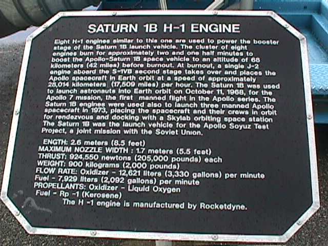 2270Saturn 1B Plaque