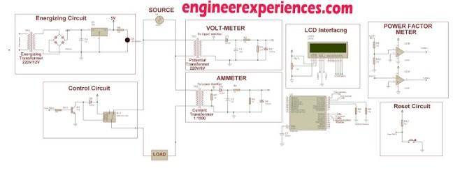 Circuit Diagram of Smart Energy Meter