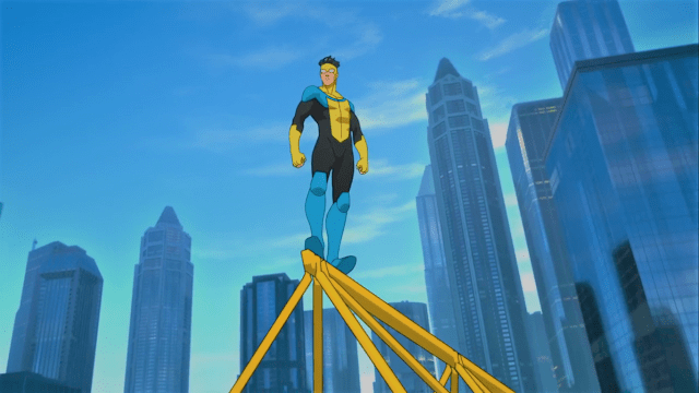 Iconic shots of Invincible Series Review (Spoiler-free) is here for you! Image Credit: https://www.primevideo.com/detail/0K677J96WQ96K6UY6BL15O70CO