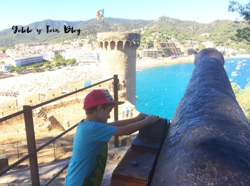 Cañones en Tossa de Mar y vistas espectaculares