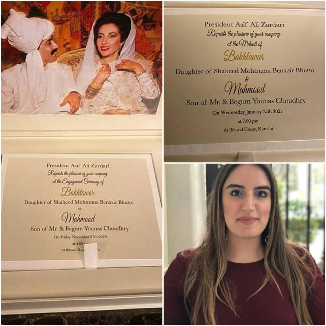 Bakhtawar Bhutto Zardari Engagement & Wedding Details