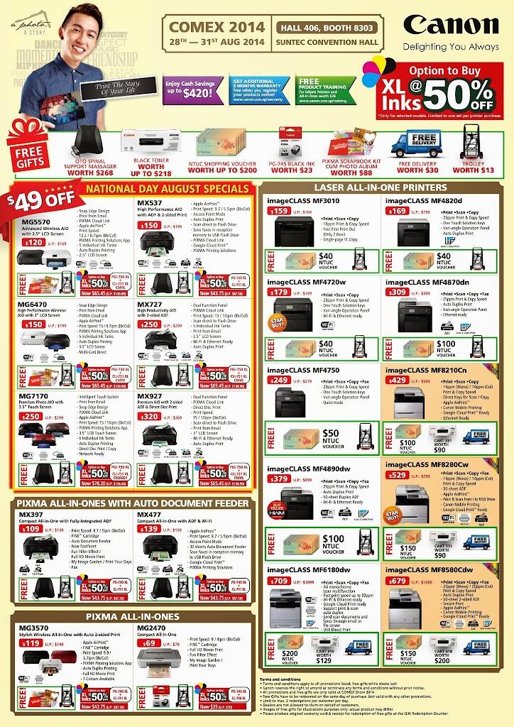 Canon Printers COMEX 2014 - Page 1