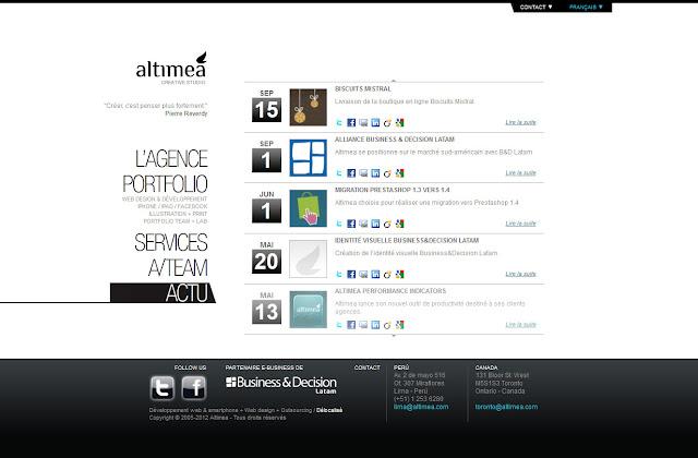 *科技感十足的「翼」Web Design|Agence Web Site 4