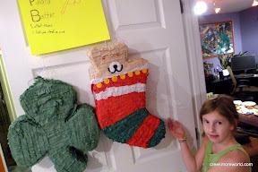 Contest #2: Pinata Battle.  Last pinata standing.  The christmas stocking wins!