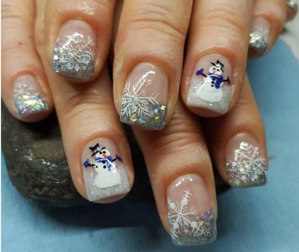 Christmas Nail Art Designs Snowman Nails 2017 Fashionte