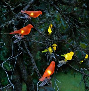 Lámparas solares pajaritos.