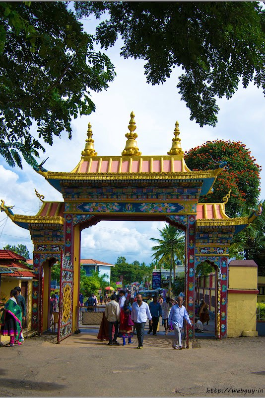 Main Gate of Golden Temple Bylakuppe