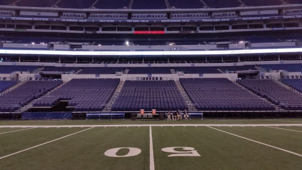 Symmetry at Lucas Oil Stadium