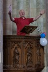 Tim Sledge conducting enthusiastically