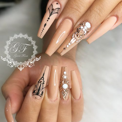Cute Acrylic Nails For Long Nail For 2018 Pretty 4