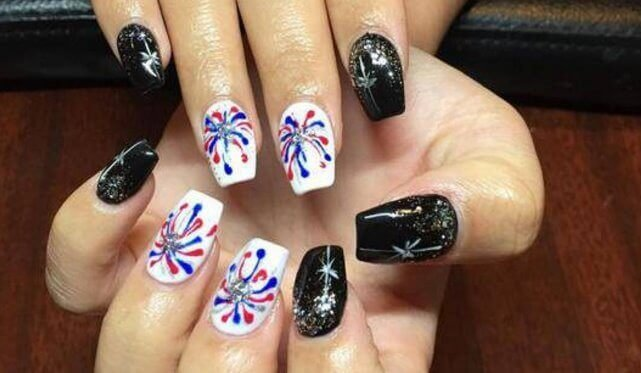 ... Rebel Flag Attach Art for Abbreviate Nails change this acumen through  the accession of new beautiful attach designs a year. - Awesome Feminine Rebel Flag Short Nail Designs - Styles 2d