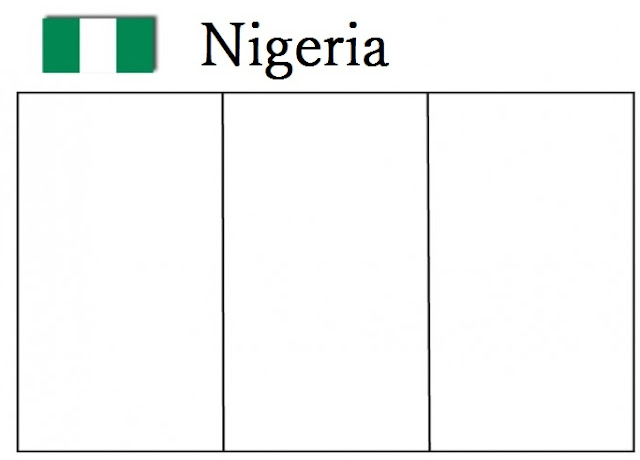 Nigeria Flag Coloring Sheet Page For Kids Pages Adults Only Sheets