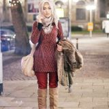 Casual Winter Hijab Styles 2016