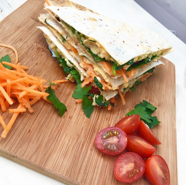 spinach and carrot wrap