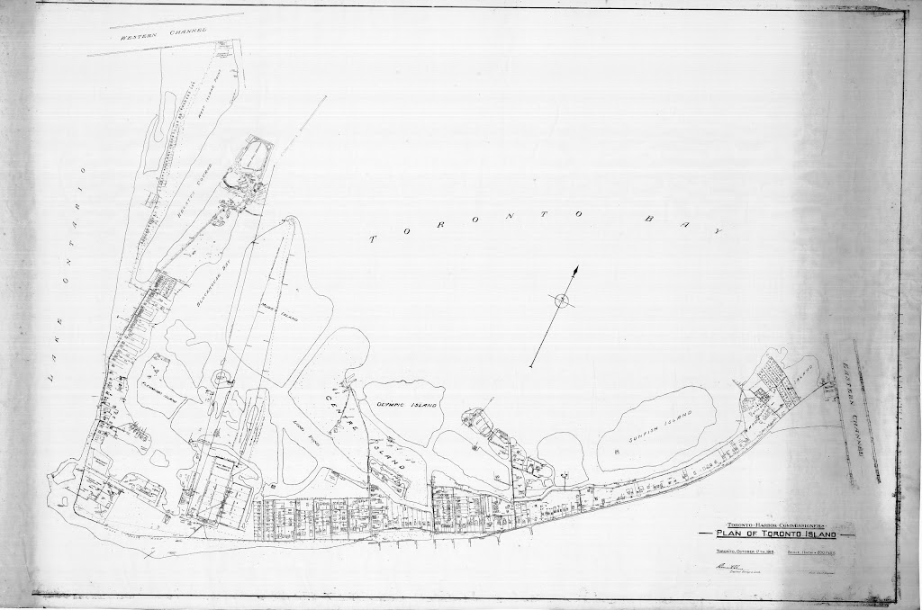 1918 Plan of Toronto Island (more detailed), Toronto Harbour Commissioners