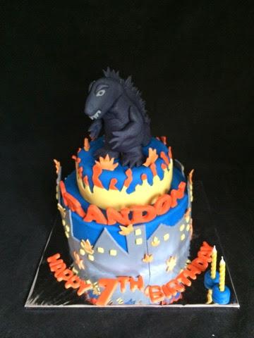 Itsybitsy Bite Godzilla Cake