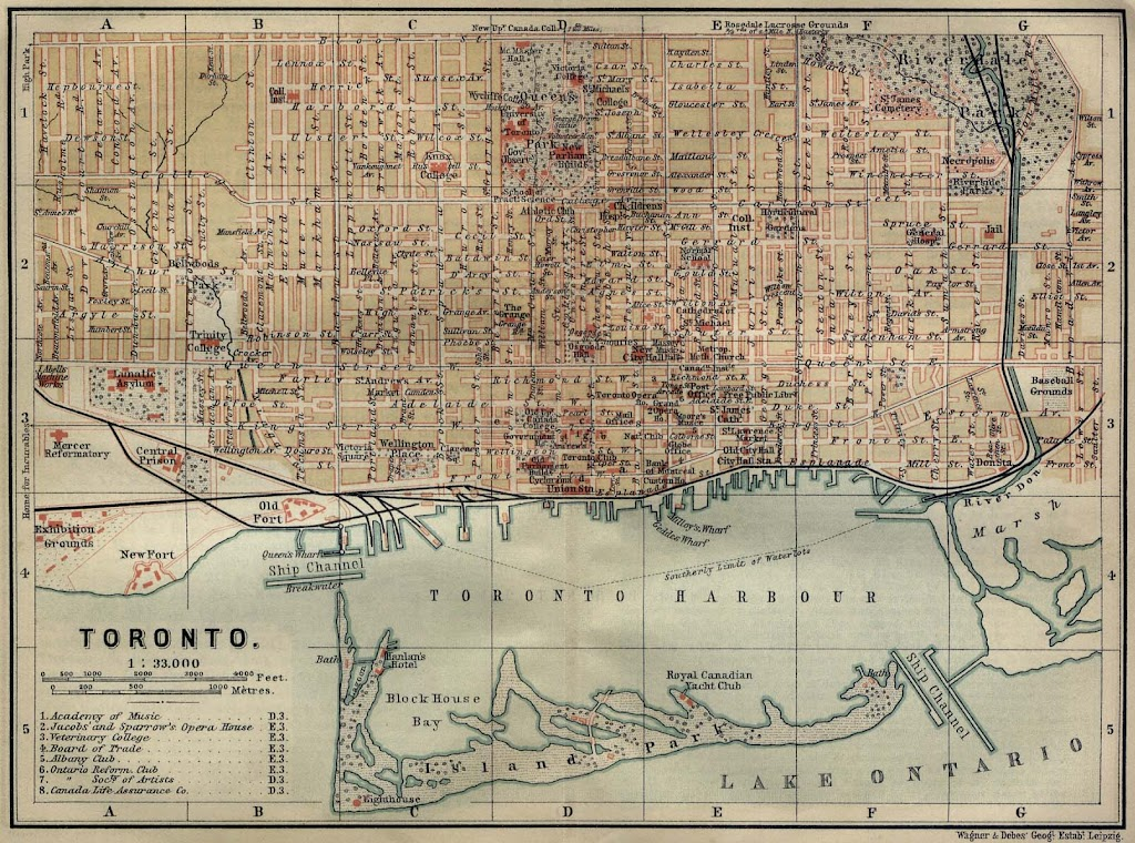1894 Plan of the City of Toronto and Harbour