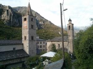 La Brigue church after walk from Fontan