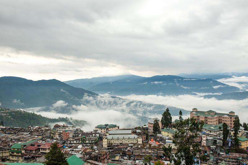 Darjeeling under fog