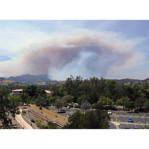 Springs fire as seen from Westlake Village, CA Photo by Paul Vasquez