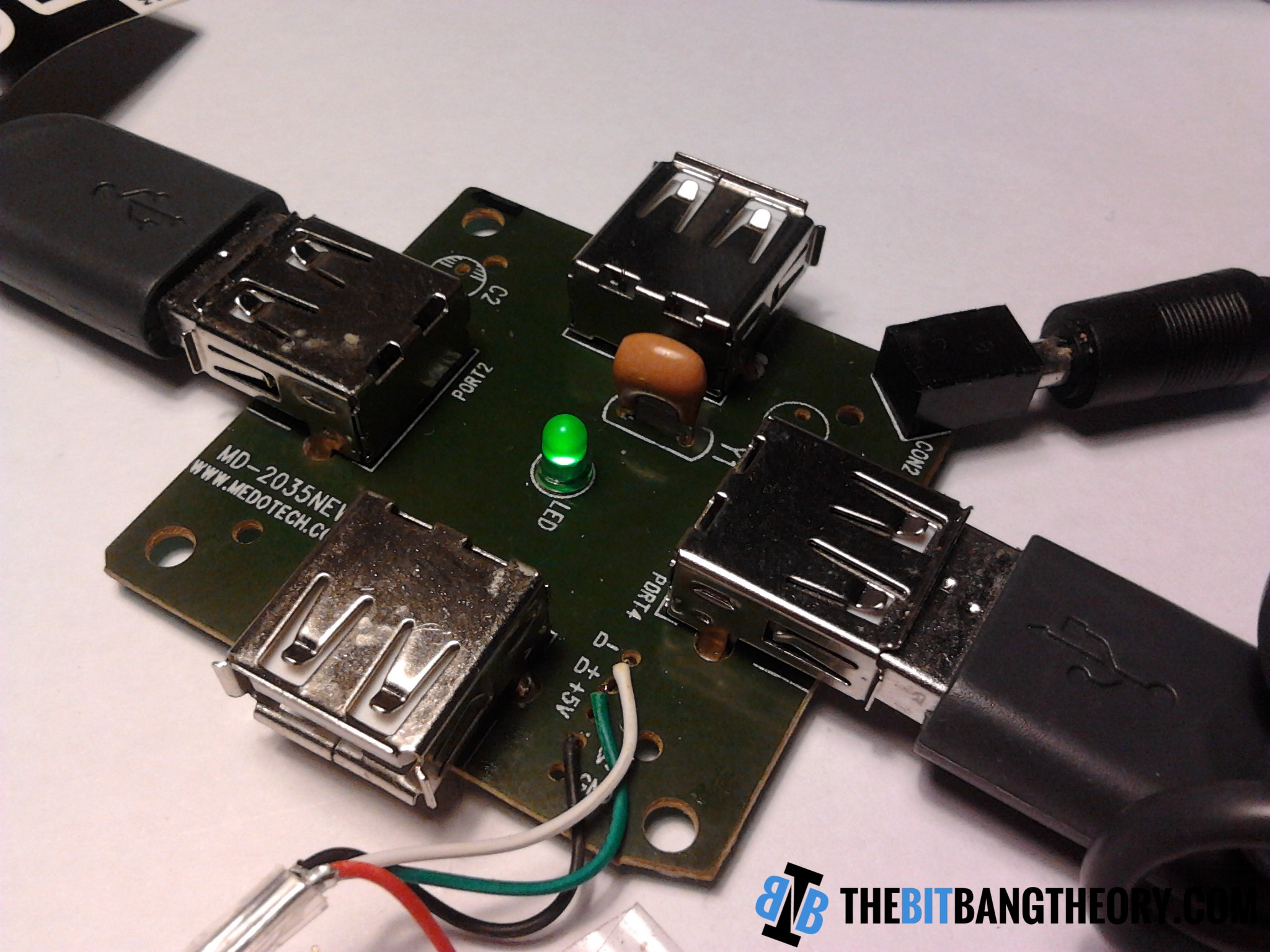 Adding An External Power Supply To A Cheap Usb Hub The Bit Bang Theory Schematic On