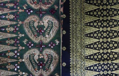contoh motif kain tenun sambas