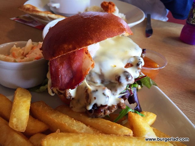 Little Chef Cheese, Bacon and Garlic Mayo Burger
