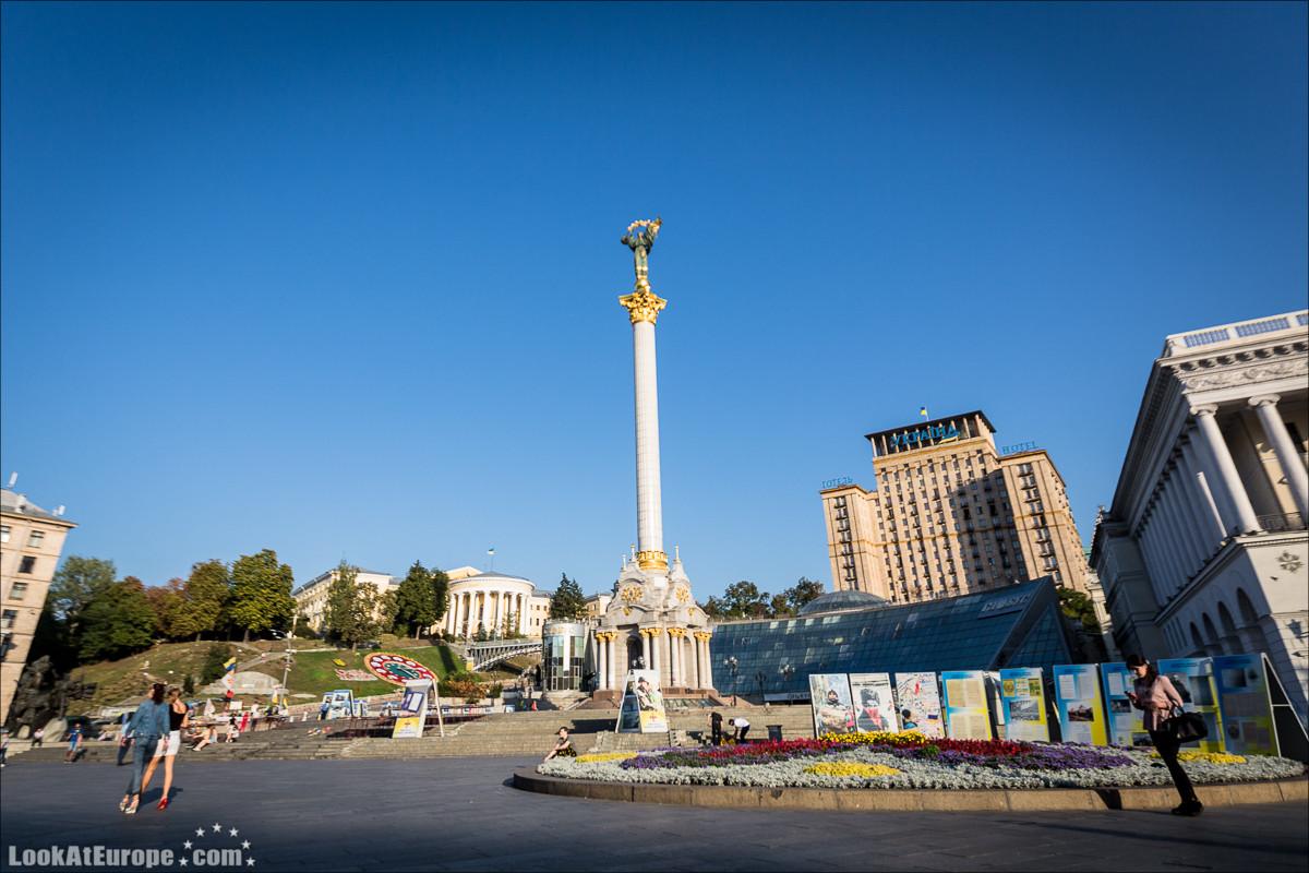 Киевский Майдан, площадь Независимости | Kiev, Maydan, Independence square | LookAtIsrael.com путешествует по Украине