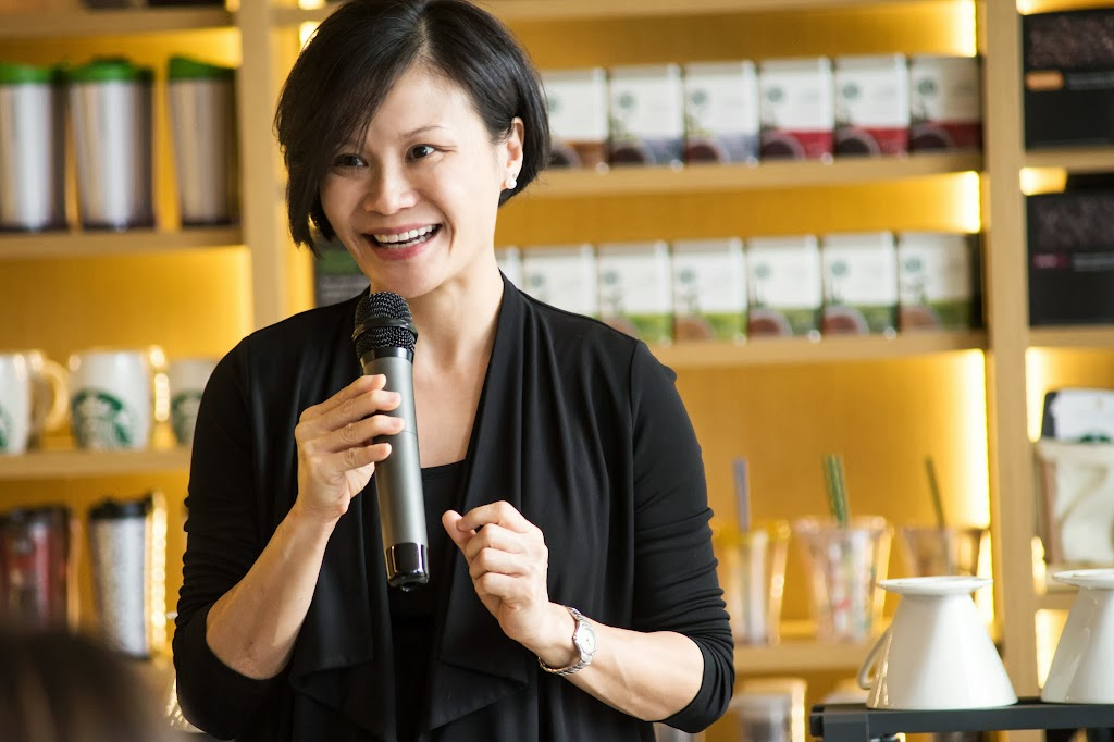 Jane Lau at the launch of Clover