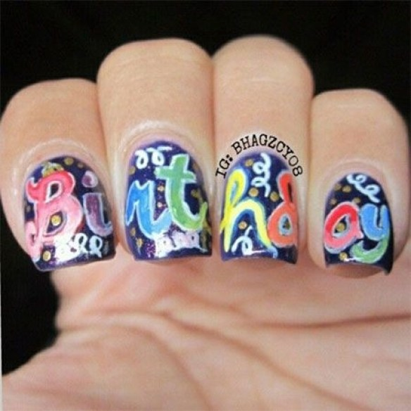Stylish Nail Art Ideas For Happy Birthday A Second Part Fashionte