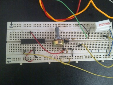 Breadboard Implementation of DC current Measurement