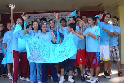 Blue Team On Stage