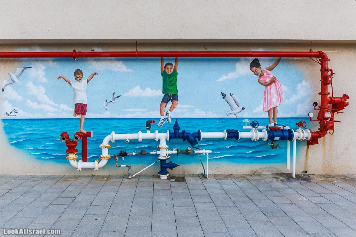 One more гидрант-граффити Тель Авива