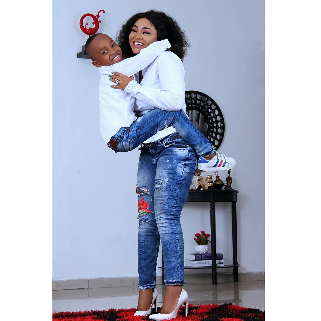 Olajuw Photos: Mercy Aigbe Celebrates Her Son On His 7th Birthday