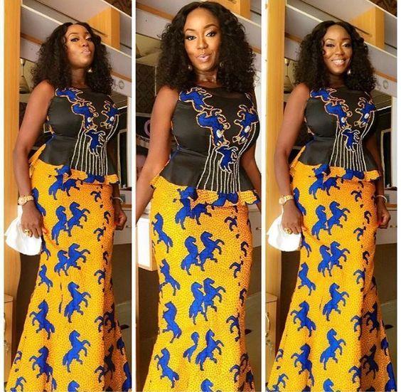 Ankara Styles Skirt & Blouse