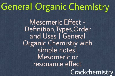 Mesomeric effects,-E effect,+E effect, Resonance Effect, stability of acids,crack Chemistry