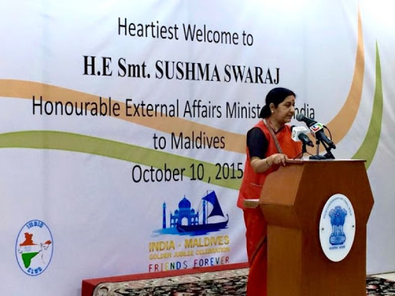 sushma swaraj maldives