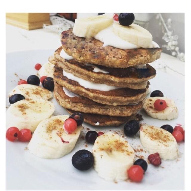 Banana & Oat Pancakes.