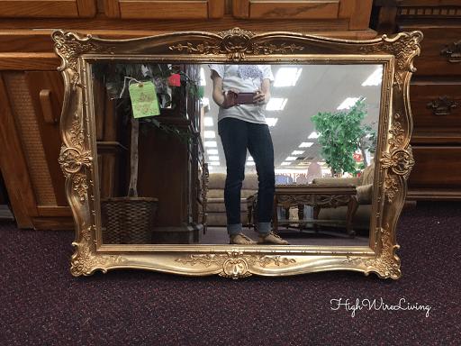 gold fancy framed mirror