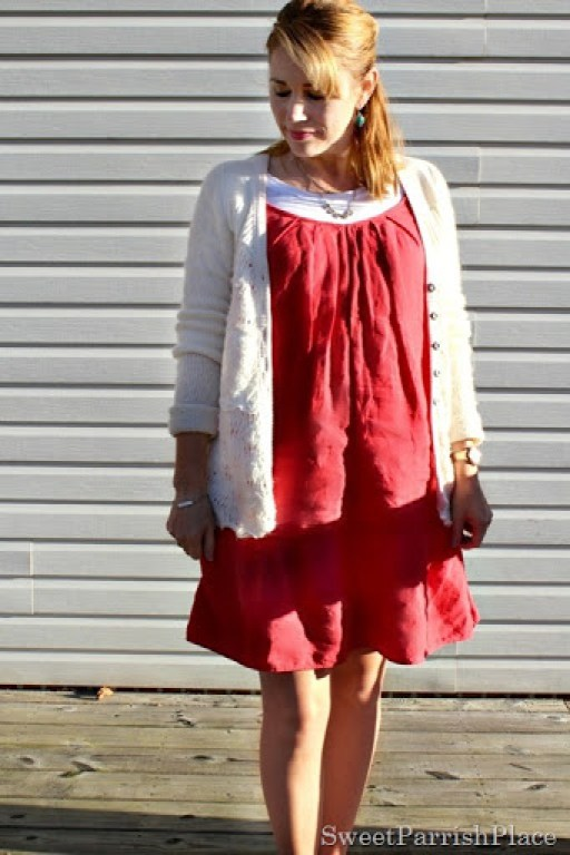 red-dress-cream-cardi-booties-5