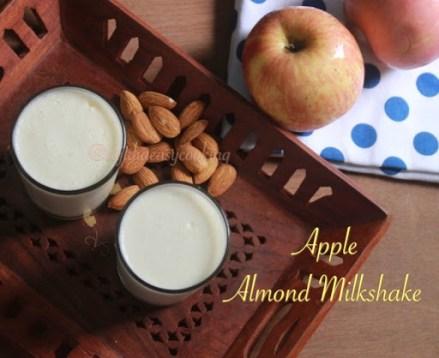 Apple almond milkshake