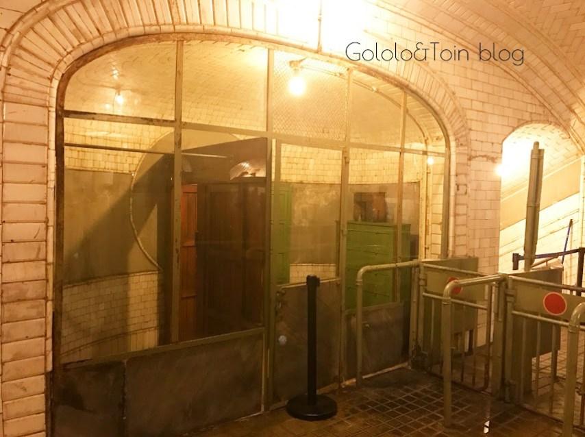 Fotos interior estación fantasma de Chamberí