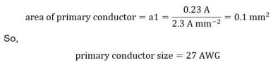 Primary Conductor size