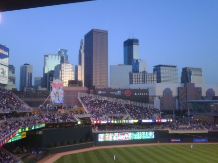Twins versus Royals at the new Target Field, Minneapolis